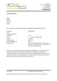 eMail: Hiermit erteile ich nachstehenden Auftrag an AuditeNova ...