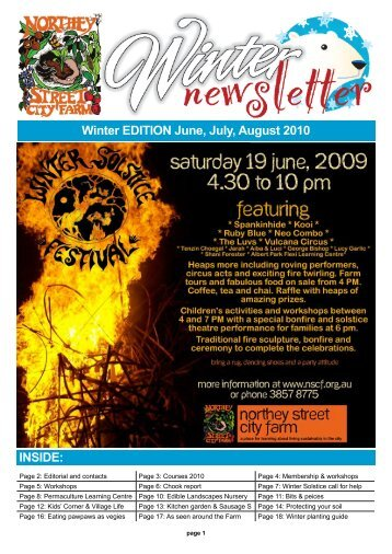Winter EDITION June, July, August 2010 INSIDE: - Northey Street ...