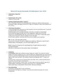 Referat fra bestyrelsesmøde i SF Aalborg den 3. dec. 2012