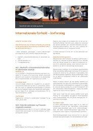 Internationale forhold - lovforslag - Beierholm