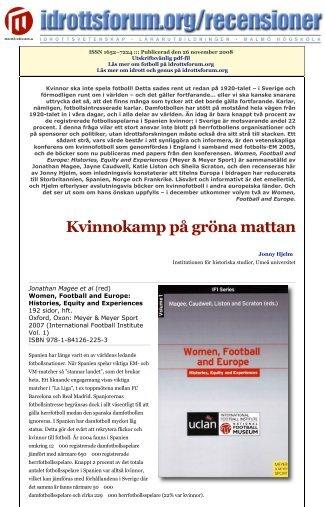 Utskriftsvänlig pdf-fil - idrottsforum.orgs systersajter