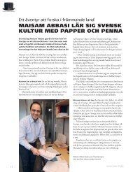 maisam abbasi lär sig svensk kultur med papper och penna