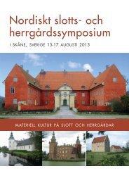 Nordiskt slotts- och herrgårdssymposium