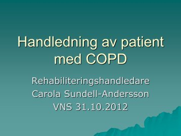 Handledning av patient med COPD