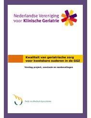 Kwaliteit van geriatrische zorg voor kwetsbare ouderen in de GGZ