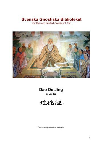 Tao Te Ching - Svenska Gnostiska Biblioteket
