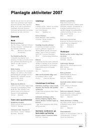 Planlagte aktiviteter 2007 - Det Danske Kulturinstitut