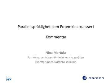 Nina Martolas presentation.pdf - Hanaholmen