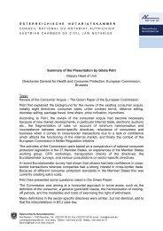 Summary of the Presentation by Gösta Petri Deputy Head of Unit ...