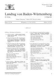 Landtag von Baden-Württemberg - Demokratie-Initiative 21