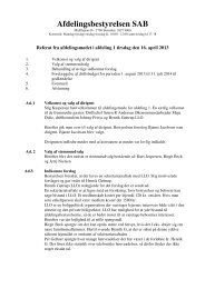 Referat afdeling 1 - Tingbjerg Forum
