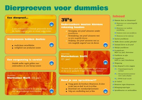 Dierproeven voor dummies - Stichting Informatie Dierproeven