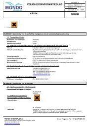 VEILIGHEIDSINFORMATIEBLAD CEDOL - Mondo Chemicals