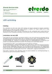 LED verlichting - aandachtspunten - Elverdo Services
