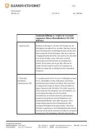 Sammanställning av remissvar avseende ... - Elsäkerhetsverket