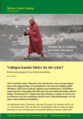 Svensk PDF (243 KB) - Burma.nu