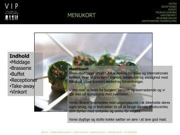 MENUKORT - VIP A/S