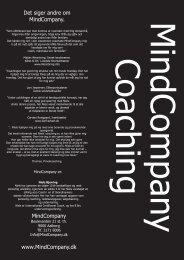 Her - Coaching og kurser hos MindCompany i Aalborg, Århus, Odense