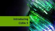 CUDA 5: GPU Callable Libraries