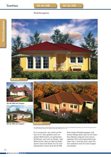 scanhaus bungalows sh 83 b scanhaus marlow gmbh. Black Bedroom Furniture Sets. Home Design Ideas