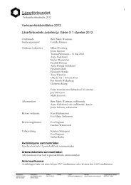 Verksamhetsberättelse 2012 - Lärarförbundet