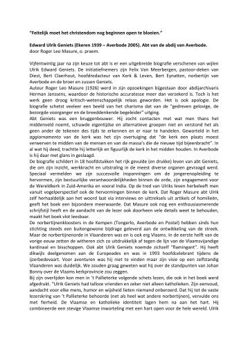 Geniets pdf - Heemkring Averbode
