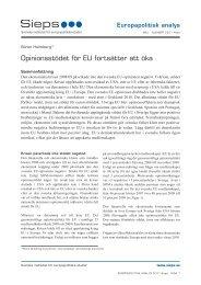 Opinionsstödet för EU fortsätter att öka (2011:4epa) - Sieps