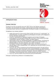 Stillingsbeskrivelser og personalepolitik - Dansk Orienterings-Forbund