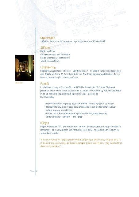 Årsmelding 2011 - Midtnorsk jazzsenter