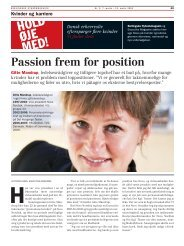 Passion frem for position - Gitte Mandrup