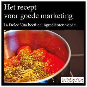 Marketing kookboek - La Dolce Vita Marketingadvies