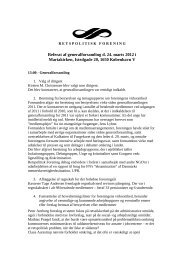 Generalforsamling 2012 referat - Retspolitisk Forening
