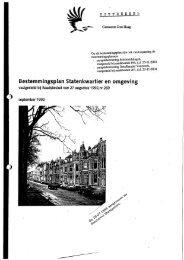 Bijlage 1 Uittreksel Bestemmingsplan Statenkwartier - Den Haag