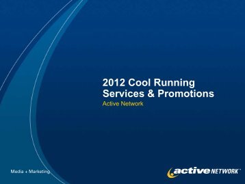2012 Cool Running Services & Promotions