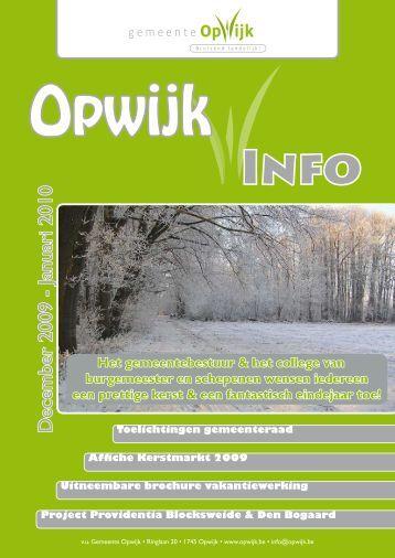 Infoblad december 2009 - Opwijk