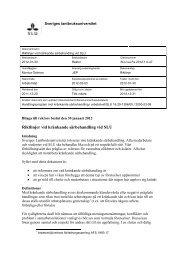 Riktlinjer vid kränkande särbehandling vid SLU