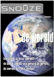 de wereld - SNOOZE the magazine