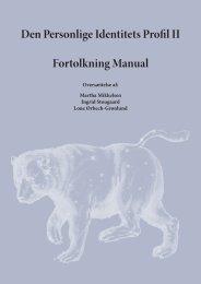 Den Personlige Identitets Profil II Fortolkning Manual - PIPIIonline