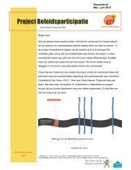 Nieuwsbrief 4 Project Beleidsparticipatie Mei - juni 2012