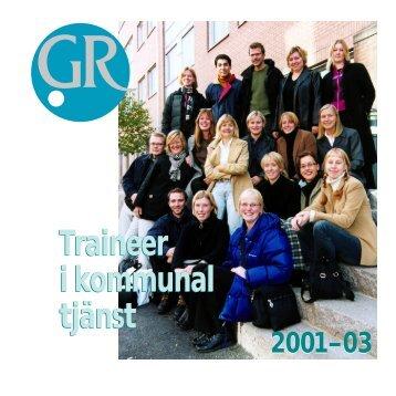 Traineer 2001 - Göteborgsregionens kommunalförbund