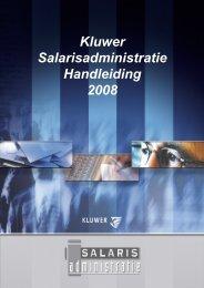 Kluwer Salarisadministratie Handleiding 2008