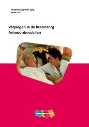 Verplegen in de kraamzorg Antwoordmodellen - Zorg Basisboeken