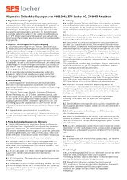 Allgemeine Einkaufsbedingungen vom 01.06.2012, SFS Locher AG ...