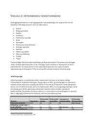 VEDLEGG 2: OPPSUMMERING TJENESTEOMRÅDER - Difi