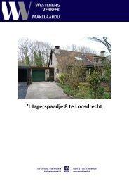 't Jagerspaadje 8 te Loosdrecht - Westeneng Verbeek Makelaardij