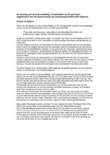 pdf Catuur en Nultuur - Peter van der Heijden