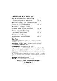 jaargang 39 nummer 9 – mei 2013 - Stichting Hilversumse Meent