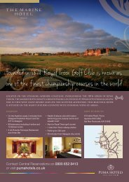 Founded in 1878 Royal Troon Golf Club is known as ... - Puma Hotels