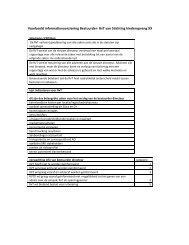 Voorbeeld informatievoorziening Bestuurder- RvT van ... - NVTK