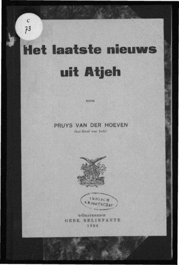Het laatste nieuws uit Atjeh - Acehbooks.org